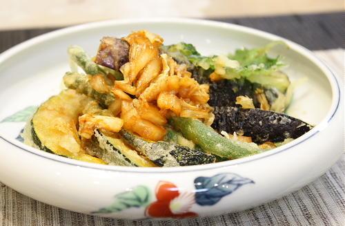 今日のキムチ料理レシピ:夏野菜天ぷらのキムチだれ