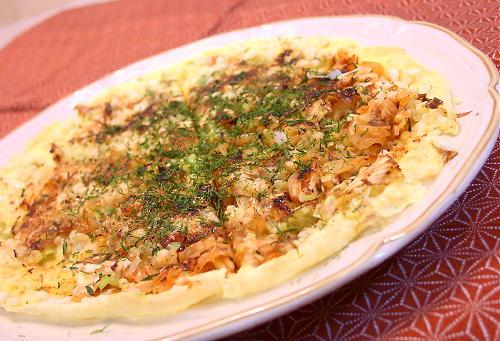 ねぎとキムチのお焼きレシピ