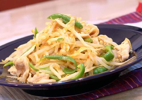 豚肉ともやしのキムチ炒めレシピ