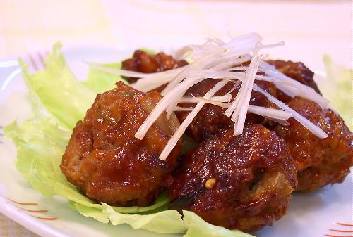 キムチ入り肉団子の甘酢和えレシピ