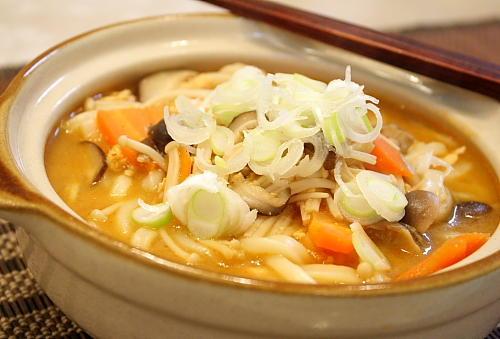肉味噌キムチうどんレシピ