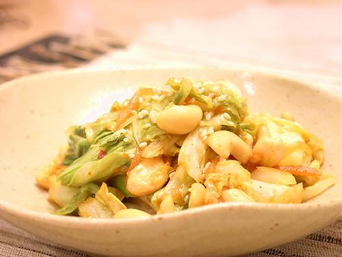 キャベツとカシューナッツのピリ辛炒めレシピ