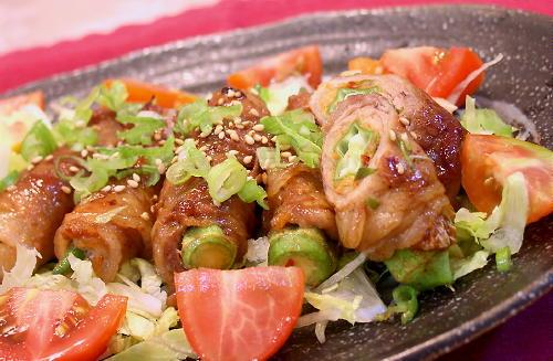 おくらとキムチの豚肉巻きレシピ