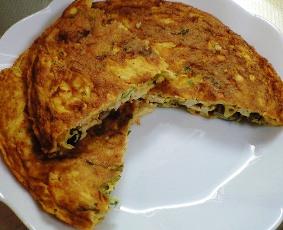 キムチの親子オムレツレシピ