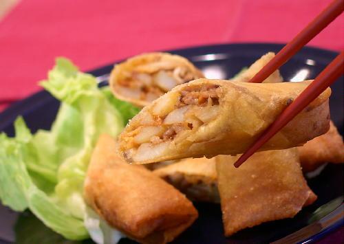 ポテトキムチ春巻きレシピ