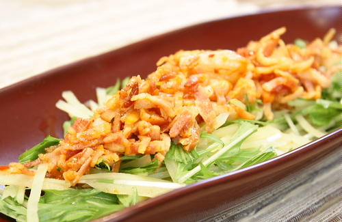 今日のキムチ料理レシピ:シャキシャキジャガイモのキムチサラダ