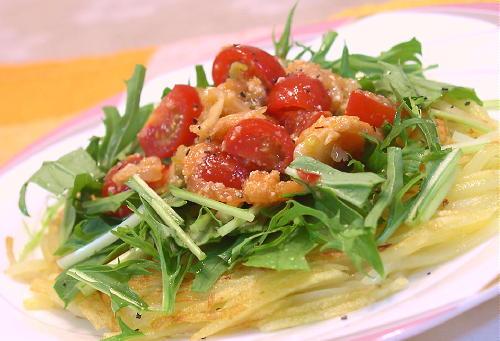 ジャガイモのトマトキムチソースがけレシピ