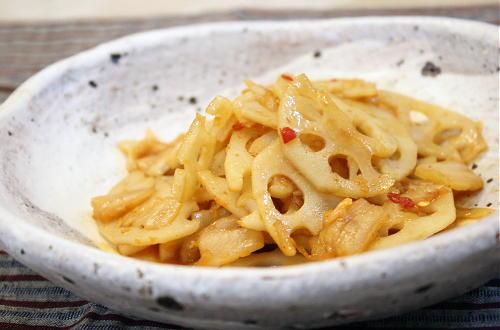今日のキムチ料理レシピ:レンコンの甘辛炒め