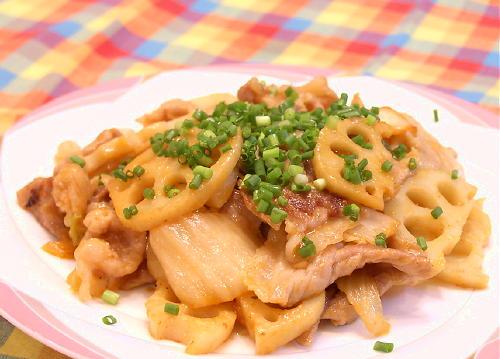 豚肉とレンコンノキムチ味噌炒めレシピ