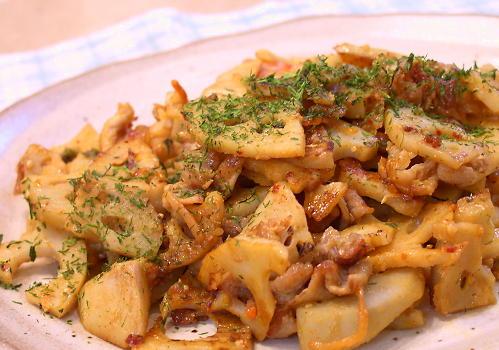 蓮根とキムチの味噌炒めレシピ