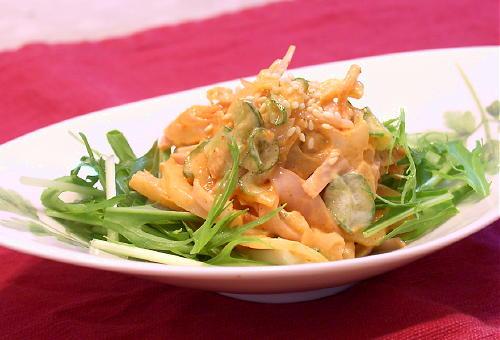 れんこんとキムチのサラダレシピ