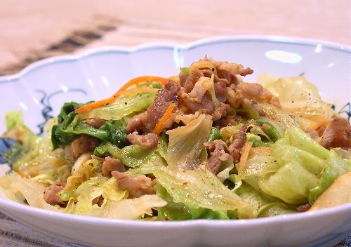 豚肉とレタスとキムチのオイスターソース炒めレシピ