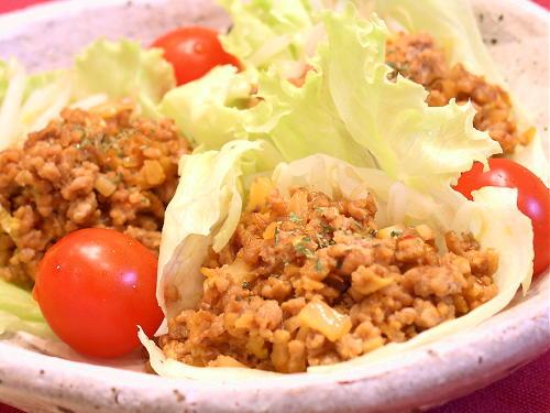 ピリ辛豚挽き肉のレタス包みレシピ