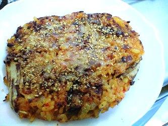キムチのライスピザレシピ