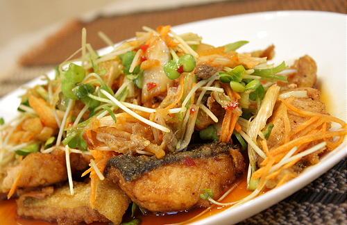生鮭のキムチマリネレシピ
