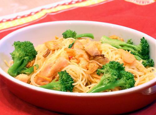 シャケとキムチのスパゲティレシピ
