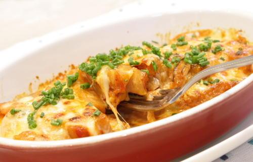 さつま揚げと大根キムチのチーズ焼きレシピ