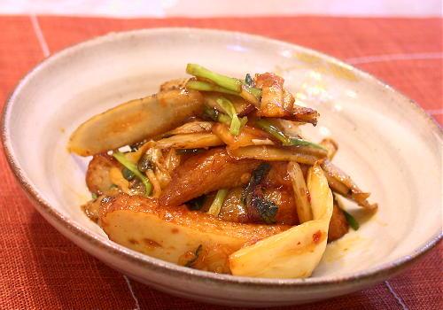さつま揚げとごぼうのキムチ炒め煮レシピ