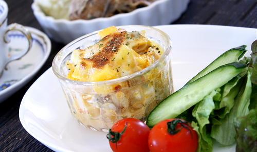 今日のキムチ料理レシピ:シーフードとポテトのキムチグラタン