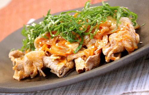 茹で豚肉のキムチ和えレシピ