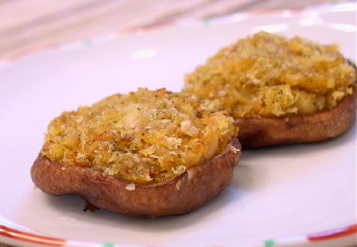 シイタケのキムチ入りパン粉焼きレシピ