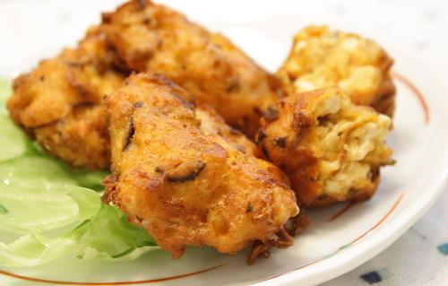 キムチと椎茸の落とし揚げレシピ