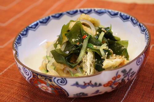 今日のキムチ料理レシピ:キムチとしらたきの酢の物