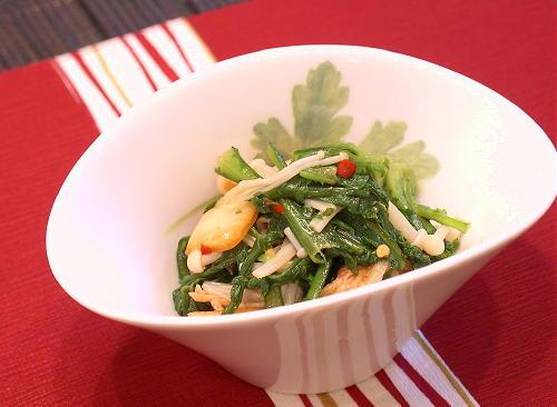 春菊とキムチのポン酢和えレシピ