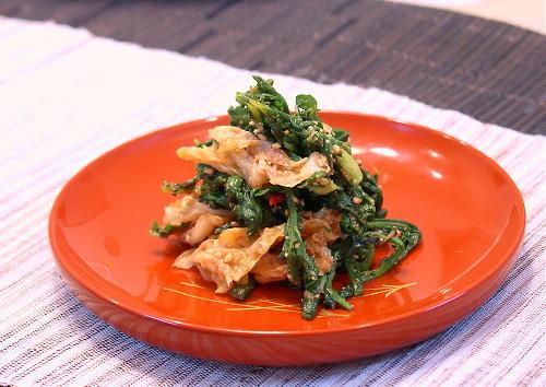 春菊とキムチの胡麻和えレシピ