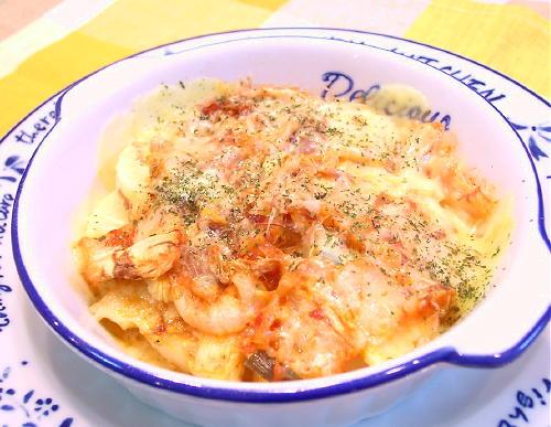 たけのことキムチのチーズ焼きレシピ