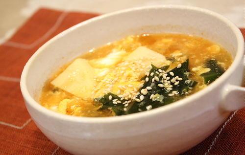 タケノコとキムチのスープレシピ