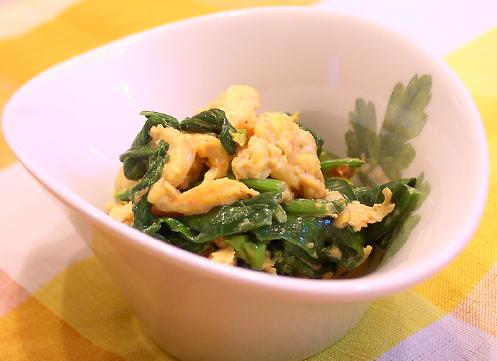 ほうれん草と卵のキムマヨ和えレシピ
