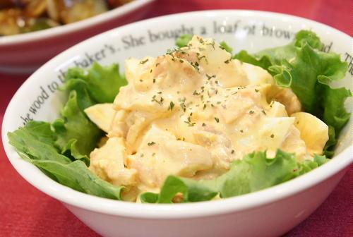 今日のキムチ料理レシピ:キムチ卵サラダ
