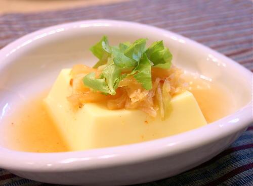 キムチあんかけ卵豆腐レシピ