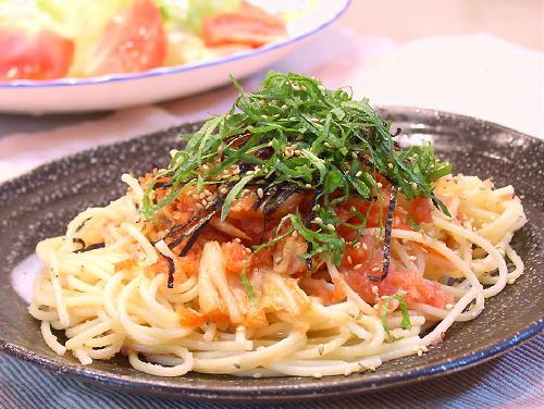大根おろし入り たらこキムチスパゲティレシピ