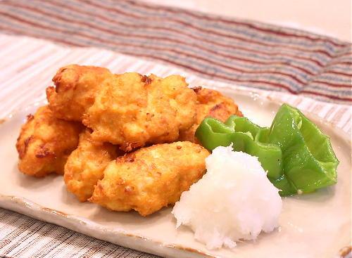 鶏ひき肉と豆腐の落とし揚げレシピ