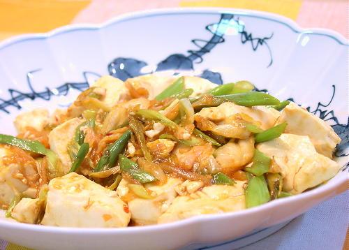 豆腐とキムチのオイスターソース炒めレシピ