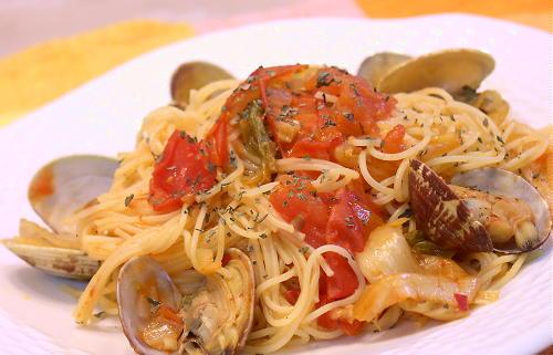 アサリとトマトのキムチスパゲティレシピ