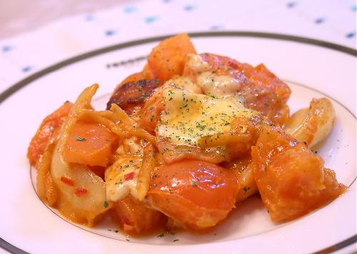 トマトとキムチのクリーム炒めレシピ
