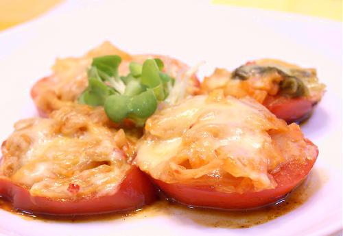 トマトとキムチのチーズ焼きレシピ