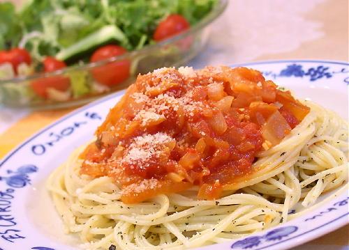 トマトキムチパスタレシピ