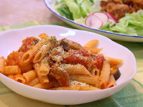 トマトと豚肉のキムチペンネレシピ