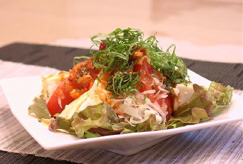 トマトと豆腐のピリ辛サラダレシピ