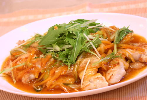 鶏肉のキムチあんかけレシピ
