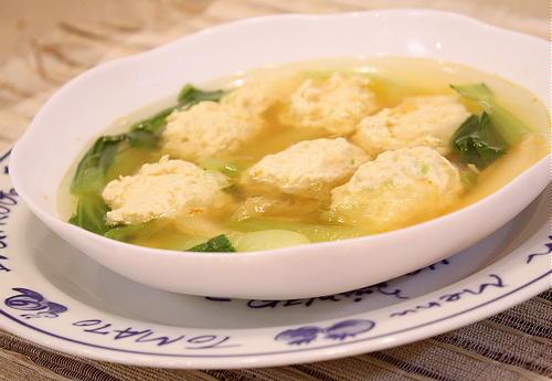 鶏肉だんごのキムチスープレシピ