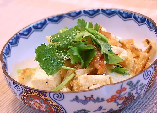 豆腐と油揚げのキムチ和えレシピ