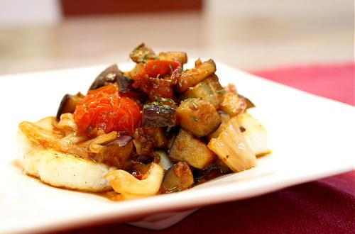 キムチ&なすソースの豆腐ステーキレシピ