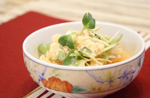 豆腐とキムチのピーナッツ和えレシピ