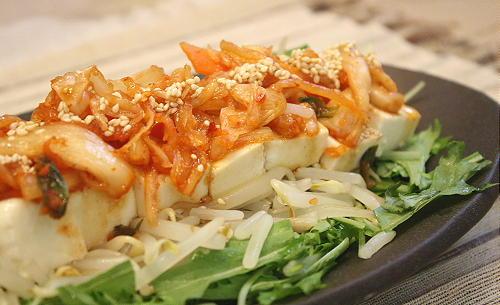 豆腐キムチサラダレシピ