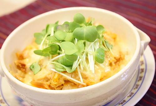 シーチキンキムチごはんのチーズ焼きレシピ